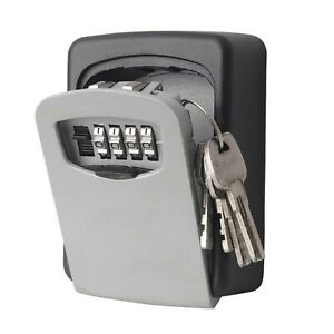 WALL MOUNTED KEY SAFE BOX SECURE LOCK SAFETY 4 DIGIT SECURITY OUTDOOR STORAGE