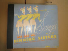 78RPM Capitol A-7 Set, 4 records, DInning Sisters, above average well kept E-