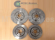 AUDI A3 Quattro S3 98-03 Drilled Grooved Brake Discs Front and Rear