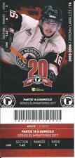 QMJHL Ticket - Quebec Remparts 20th Anniversary JORDAN LAVALLEE #16