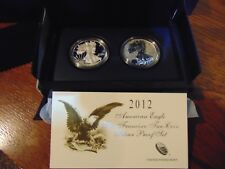 2012 S American Eagle 2 coin Silver Proof Set