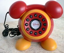 Retro style Disney MICKEY MOUSE Phone ILLLUMINATED RINGER Very Funky Collectible