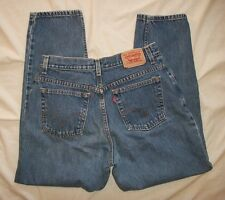 Levi's 550 High Waist Relaxed Tapered Classic Cotton Denim Jeans Size  12 SHORT