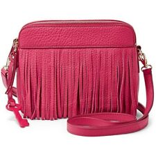 Fossil Sydney Fringe Crossbody Pomegranate pink Bag ZB6707661
