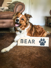 Personalised Horse Stable/Stall Name Sign Horse / Dog Name Paw print