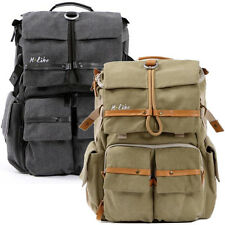 Waterproof Canvas DSLR SLR Canvas Camera Backpack laptop Bag Padded Rucksack New