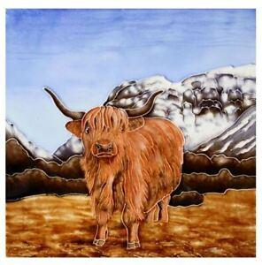 Milford Collection Highland Cow Tile Trivet