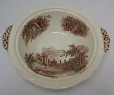 vintage Johnson Bros Haddon Hall Bowl 23cm hand engraved collectable