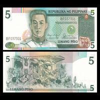 Philippines 5 Pesos Banknote, ND(1985), P-168b, UNC, Asia Paper Money