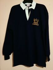 ULTRA RARE BARINGS BANK EMBROIDERED RUGBY SHIRT NICK LEESON ROGUE TRADER SIZE XL