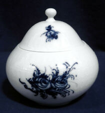 Rosenthal China Rhapsody Blue Flower Romance Sugar Bowl - Small Size