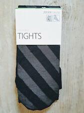 LINDEX Damen Netzstrumpfhose Tights Streifen Stripes Schwarz Größe S 36/38