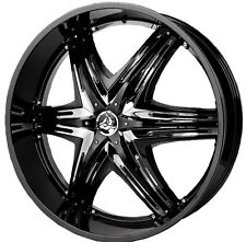 22 inch 22x9.5 DIABLO ELITE G2 Black wheel rim 5x4.5 5x114.3 +40