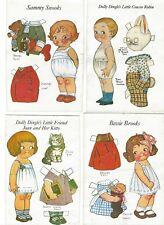 Dolly Dingles Friends POSTCARD Paper Dolls- Grace Drayton Unknown date-Lot of 10