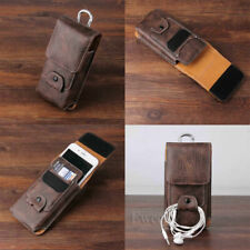 Vertical Belt Loop Leather Holster Packet Case Cover Holder Pouch For Samsung