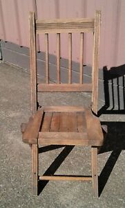 Antique Fold Up Childs Chair Maple Wood Original Finish 1930s