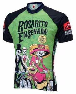 World Jersey Rosarito Day of the Dead Mens Cycling Jersey XX-Large Green/Black