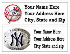 60 NEW YORK YANKEES RETURN ADDRESS LABELS MANY CHOICES
