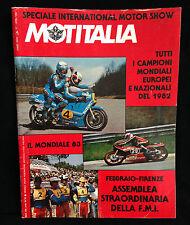 R9 > MOTITALIA - NOVEMBRE  1982 - SPECIALE INTERNATIONAL MOTOR SHOW