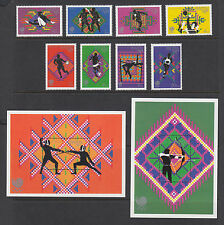 Bhutan Sc 655-664 MNH. 1989 Seoul Olympics, cplt set of stamps & souv sheets, VF