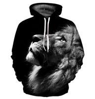 Animal Lion 3D Print Hoodie Women/Men's Casual Sweatshirt Pullover Shirt Tops