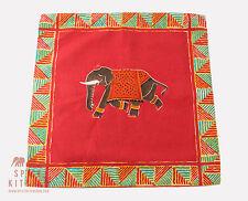 Spice Kitchen Inspirado en India Elefante Cojines amarillo/rojo - Hecho a mano