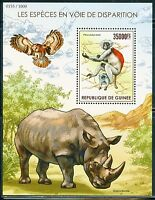 GUINEA 2015 ENDANGERED SPECIES   SOUVENIR SHEET MINT NEVER HINGED