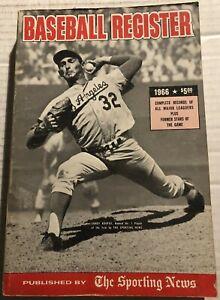 1966 BASEBALL Register LOS ANGELES Dodgers SANDY KOUFAX Hank AARON Willie MAYS