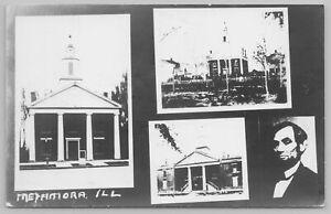 Metamora Illinois~Lincoln Photo Church Photos~Real Photo Postcard