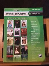 Partition Country superstars 2007 partition chant piano accords Alfred Playlist