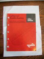 Tecumseh Carburetor Troubleshooting Repair Manual 695907 6/97