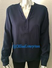 65084b78de565d New Tommy Hilfiger Women's Slit V-Neck Long Sleeve Viscose Pullover Blouse  XL