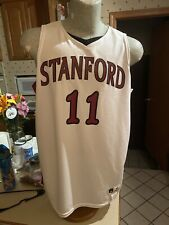 Vintage Stanford Cardinals #11 Basketball Jersey White SZ 44/L Large NWT