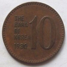South Korea 10 Won 1980 coin