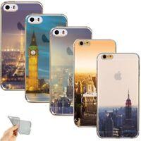 Etui/Coque iPhone 5/5s/SE/6/6s/6Plus/7 New York USA Londres Paris Silicone