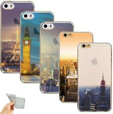 Etui/Coque iPhone 5/5s/SE/6/6s/6Plus/7 New York USA Londres Paris Silicone