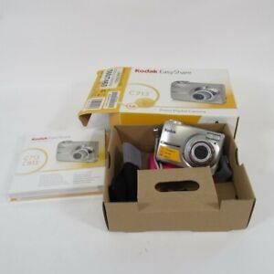 Kodak Easy Share Camera C713 Digital Silver 7 MP 3x Optical Zoom w/ Box Untested