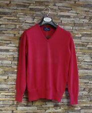 Peter Scott Ladies Fuchsia 100% Merino Wool V-Neck Jumper Size 38 New