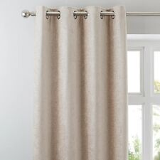 Dunelm Cream Chenille Curtains 228x182cm 90inch W X 72inch D. FREE FAST POST