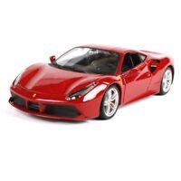 Burago 1/24 Ferrari 488 GTB Racing Diecast Car Model Red
