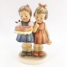 """Goebel Hummel """"Happy Birthday� #176/1 Tmk-6 Two Girls Figurine Exc 6�"""