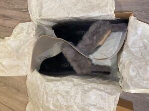 UGGs Slippers Size 3 UK BNIB Black/Grey