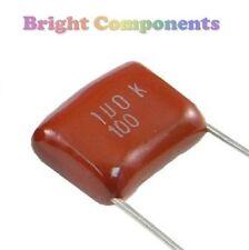 10 x 0,33 uF / 330nF (334) film polyester condensateur - 100v (max) - 1er classe post
