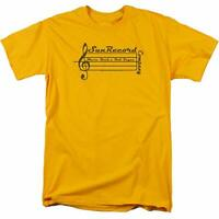 Trevco Men's Sun Records Guitar Pick T-Shirt Med Gold