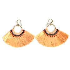 Fashion Women Bohemian Earring Vintage Long Tassel Fringe Dangle Earrings #2 Yellow
