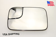 For Dodge Ram 1500 2500 3500 W/Trailer Towing Mirror Glass LEFT Driver Side