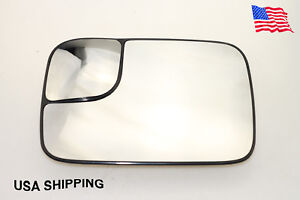 2005-2010 Driver Side Mirror Glass For Dodge Ram 1500 2500 3500 W/Trailer Towing