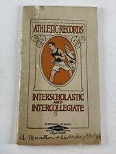 1911 Athletic Records Interscholastic and Intercollegiate by Gillette Razor - Ad