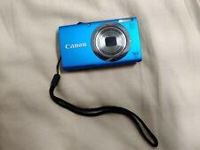 Canon Powershot A2300 16 Megapixel HD Digital Camera Blue Case Battery Charger