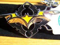 "DC Comics Yellow Silver Black Batman Belt Buckle 5"""